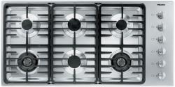 Brand: MIELE, Model: KM3484LP, Fuel Type: Stainless Steel, Contemporary Linear Grate Design and Liquid Propane