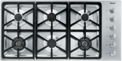 Brand: MIELE, Model: KM3484LP, Fuel Type: Stainless Steel, Hexa Grate Design and Natural Gas