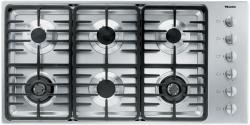 Brand: MIELE, Model: KM3484LP, Fuel Type: Stainless Steel, Contemporary Linear Grate Design and Natural Gas