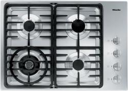 Brand: MIELE, Model: KM3465LP, Fuel Type: Stainless Steel with Contemporary Linear Grate Design and Natural Gas